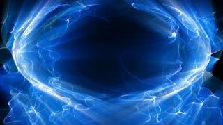 Blue fractal light forms shine (Loop).
