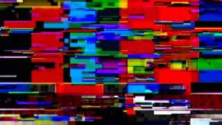 Data Glitch 042: TV color bars malfunction (Loop).