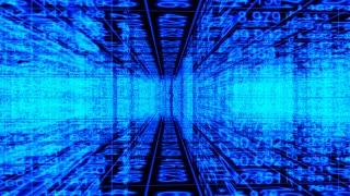 Data Storm 0407: Traveling through a digital maze of data (Loop).