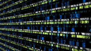 Data Storm 0653: Stock market data tickers board (Loop).