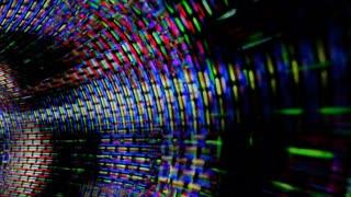 Data Stream 1008: A vortex tunnel of streaming video flux (Loop).