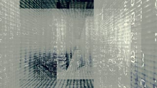 Digital Graffiti 073: Traveling through a maze of streaming data and video flux (Loop).