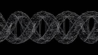 DNA 021: Futuristic wireframe DNA strand (Loop).