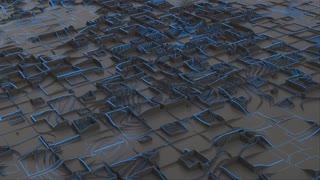 Future Shapes 1022: Futuristic 3D geometry structure.