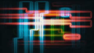 Futuristic digital TV malfunction (Loop).