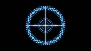 HUD 1004: Heads up display element of a holographic radial crosshair (Loop).