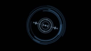 HUD 1010: Heads up display element of a holographic radial targeting scope (Loop).