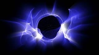 Light FX2001: Radial waves of fractal blue light shine (Loop).