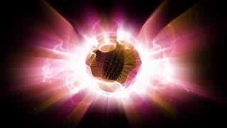 Radial fractal light forms shine (Loop).
