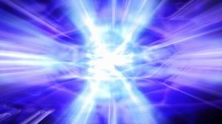 Shafts of blue light flicker, shimmer and shine (Loop).