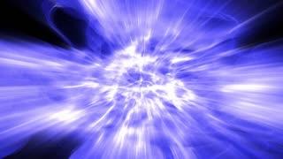 Shafts of blue plasma light shimmer and shine (Loop).