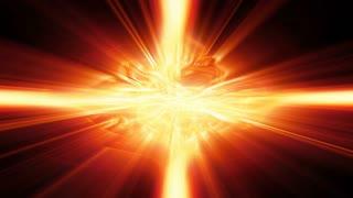 Shafts of golden light flicker, shimmer and shine (Loop).