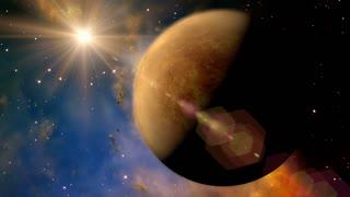 Solar System 1003 Venus: The planet Venus rotates in space (Loop).