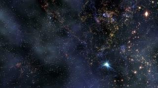 Space 2030: Traveling through star fields in deep space (Loop).