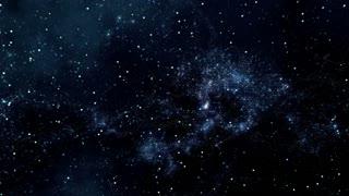 Space 2328: Reverse view traveling through star fields in space (Loop).