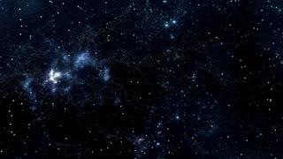 Space 2362: Reverse view traveling through star fields in space (Loop).