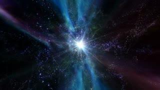 Star Warp 002: Traveling through star fields in deep space (Loop).