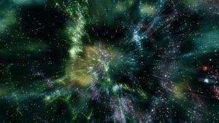 Star Warp 020: Traveling through star fields in deep space (Loop).