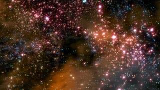 Star Warp 021: Traveling through star fields in deep space (Loop).