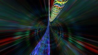Streaming strands of digital light (Loop).