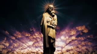 The Virgin Mary with baby Jesus (Loop).