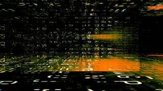 Traveling through a digital maze of data (Loop).