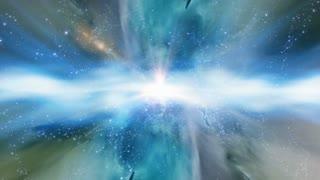 Traveling through star fields and galaxies in deep space (Loop).