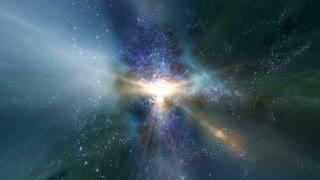 Traveling through star fields in deep space (Loop).