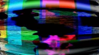 TV Noise 0824: Malfunctioning TV color bars (Loop).