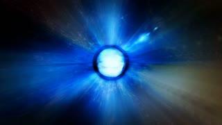 Video Background 2101: An event horizon shoots light (Loop).
