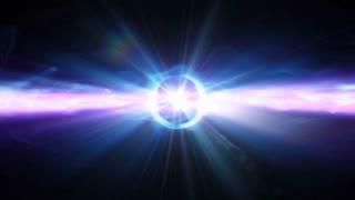 Video Background 2107: An event horizon shoots light (Loop).