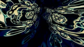 Video Background 2277: Traveling through a tunnel of abstract fluid forms (Loop).