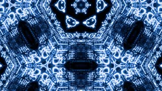 Video Background 2334: Futuristic technology kaleidoscope (Loop).