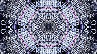 Video Background 2336: A radial kaleidoscope of data code (Loop).