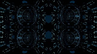 Video Background 2368: Fractal technology abstraction (Loop).