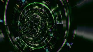 Vortex 023: A data glitch vortex tunnel (Loop).