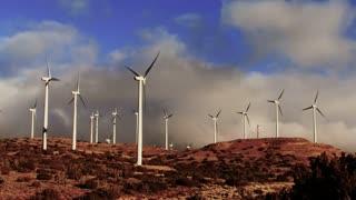 Wind Turbine 3012: Wind turbines turn in the Tehachapi Pass Wind Farm, California.