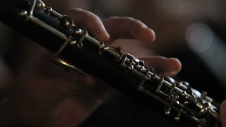 close up of instrument being played