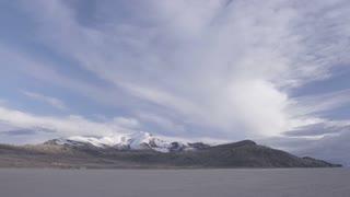 landscape of snow covered desert hills