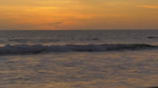 Dramatic background plate of the ocean waves at sunrise or sunset