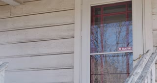 Man Knocking on House Door Stock Video Footage - Storyblocks