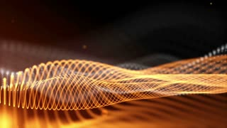 Dark orange abstract fantasy technology motion background. 3D rendering