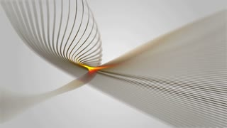 Seamless loop of an elegant abstract and dynamic lines in motion. Business and office theme. Abstract stylish wave animation. Computer generated - 3D rendering.