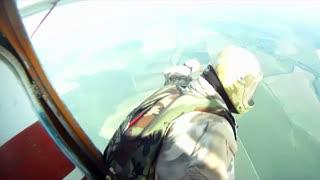 Parachute jump from a plane