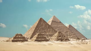 Timelapse Of The Great Pyramids In Giza Valley, Cairo, Egypt 1