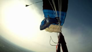 View on a parachute