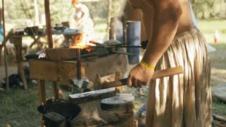Blacksmith Forges Metal