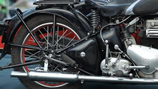 Russia, TolyattI, April 25, 2015: Opening motorcycle season. Vintage motorcycles at the motorcycle show