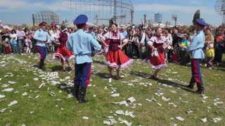 Russia, Tolyatti, May 9, 2014: Russian traditional folk dance at the festival to