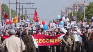 TOLYATTI, RUSSIA, MAY 9, 2016: Immortal Regiment On Victory Day